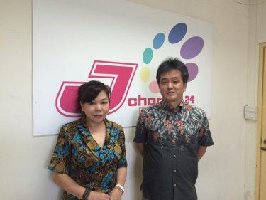 バンコク の日本語FMラジオJ-Channel『DJ.NORIKOの雑学講座』にゲスト出演しました。