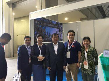 観光大臣と駐日大使がvKiriromのツーリズムEXPOブースに来られました。